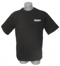 Security T-shirt zwart